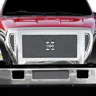 T-Rex® - 3-Pc X-Metal Series Custom Style Polished Mesh Main Grille