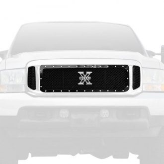 T-Rex® - 3-Pc X-Metal Series Black Mesh Main Grille