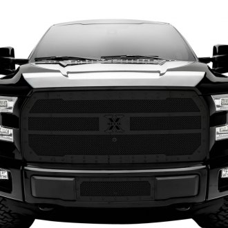 T-Rex® - 1-Pc Stealth Metal Series Flat Black Formed Mesh Grille