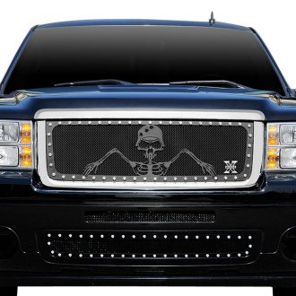 "T-Rex® - 1-Pc Urban Assault ""Grunt"" Series Flat Black Mesh Grille"