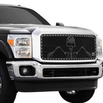 "T-Rex® - 3-Pc Urban Assault ""Grunt"" Series Flat Black Mesh Grille"