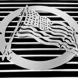 T-Rex® - US Flag Polished Grille Badge
