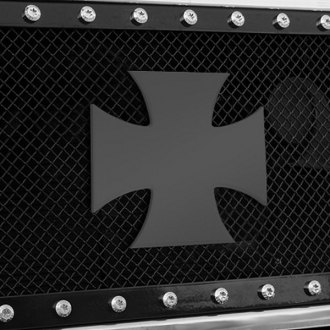 "T-Rex® - X-Metal Series ""Rebel"" Iron Cross Black Grille Badge"