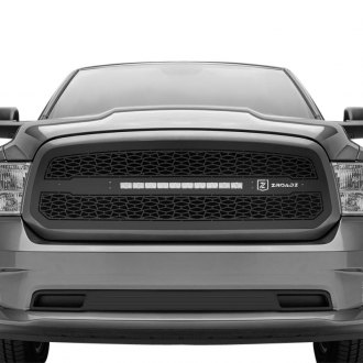 "T-Rex® - ZROADZ Series Black CNC Machined Grille with 1 x 20"" Slim Single Row LED Light Bar"