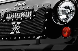T-Rex® - X-Metal Torch Series Mesh Grille on Jeep