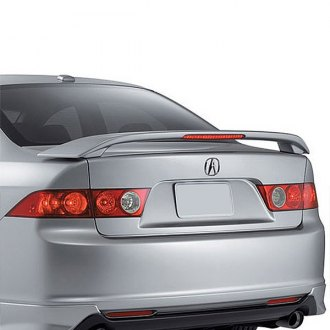2004 acura tsx spoilers custom factory lip wing spoilers t5i factory style rear spoiler with light sciox Images