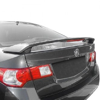2010 acura tsx spoilers custom factory lip wing spoilers t5i factory style rear spoiler with light sciox Images