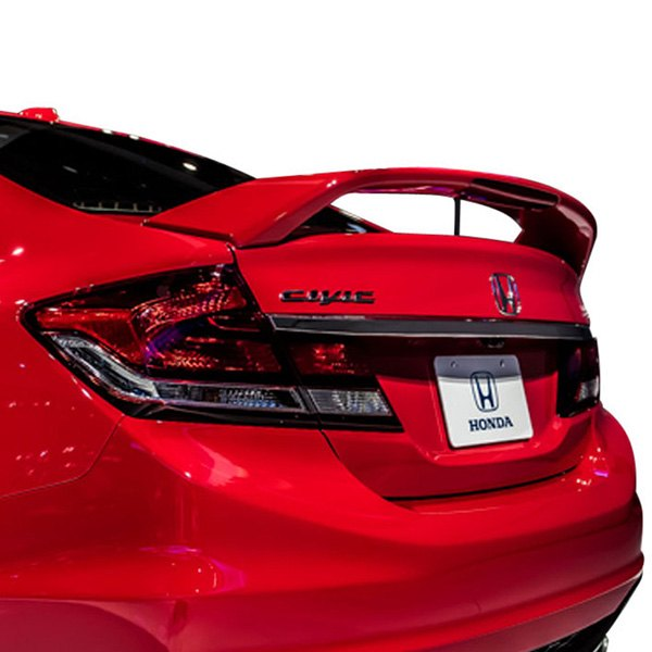 T5i Honda Civic Si 4 Doors 2013 2015 Factory Style Rear Spoiler With Light