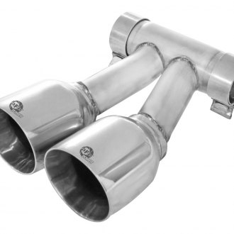 "aFe® - Polished 304 SS Straight Cut Dual Exhaust Tip (4"")"
