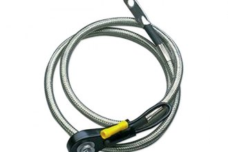"Taylor Cable® - Stainless Braided Diamondback Shielded Battery Cable (Side Post, 12"" Length)"