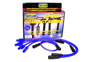 Taylor Cable® 77683 - 8mm Spiro Pro Ignition Wire Set (Blue)