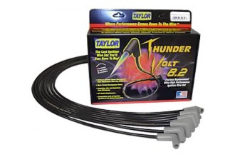 Taylor Cable® 84028 - ThunderVolt™ 40 ohm Ferrite Core Performance Ignition Wire Set (Black, 40 ohm Ferrite Core)