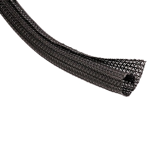 Taylor Cable® - Black Self-Wrapping Split Braid Sleeving