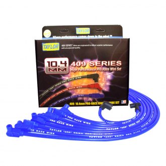 Taylor Cable® - 409 Pro Race Blue Ignition Wire Set w/ 90 Degree Plug Boots