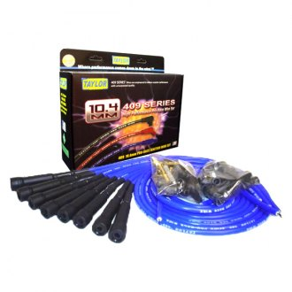 Taylor Cable® - 409 Pro Race Blue Ignition Wire Set w/ 180 Degree Plug Boots