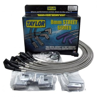 Taylor Cable® - Street Series Full Metal Jacket Black Ignition Wire Set