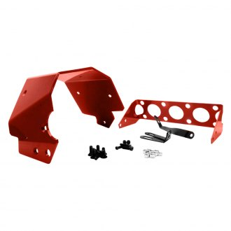 TCI® - Red Aluminum Transmission Shield