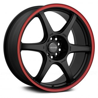 TENZO-R® - DC-6 V.1 Matte Black with Red Stripe