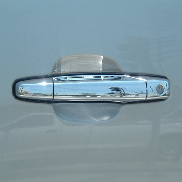 For Chevy Avalanche 2007-2013 Chrome 2 DOOR HANDLE Covers W// Passenger Keyhole