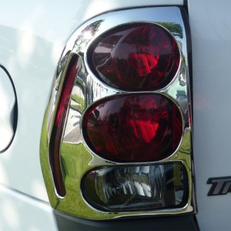 TFP® - ABS D Circular Style Chrome Tail Light Insert Accent Set