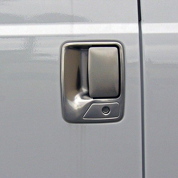 TFP® 441KEBR - Brushed Stainless Steel Door Handle Covers