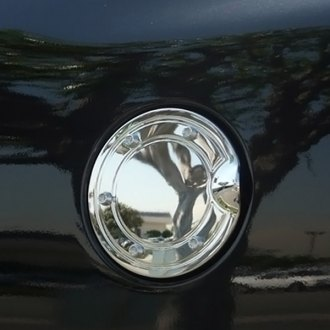 TFP® - Stainless Steel Chrome Fuel Door Insert Accents with Raised Bolts
