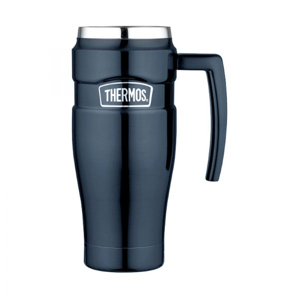 Thermos sk1000mbtri4 stainless steel king travel mug 16 oz - Travel mug stainless steel interior ...