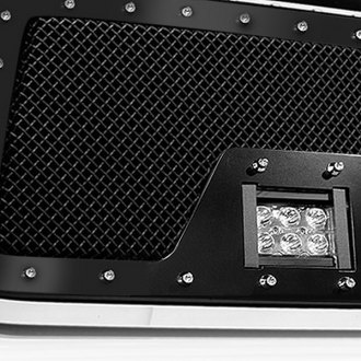 Tiarra® - Bones Series Black Off-road Grille with LED Lights