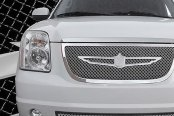 Tiarra® - 2-Pc 2-Pc Luxury Series Chrome Dual Weave Mesh Grille Kit