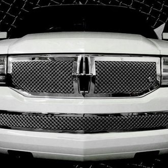Tiarra® - 2-Pc Luxury Series Chrome Dual Weave Mesh Grille Kit