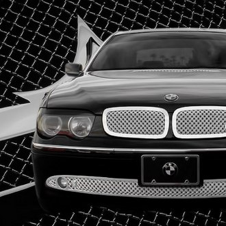 Tiarra® - 3-Pc Luxury Series Chrome Dual Weave Mesh Grille Kit