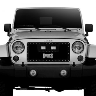 Tiarra® - 1-Pc Bones Series Black Single Weave Mesh Main Grille