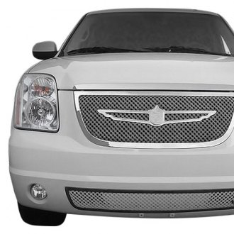 Tiarra® - 2-Pc Luxury Series Triple Chrome Plated Dual Weave Mesh Main and Bumper Grille Kit