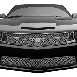 Tiarra® - 2-Pc Luxury Series Chrome Dual Weave Mesh Main and Bumper Grille Kit