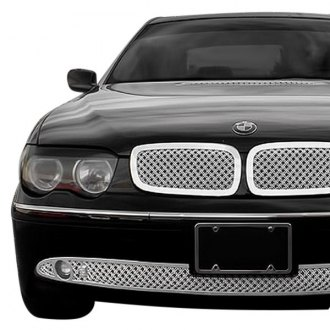 Tiarra® - 3-Pc Luxury Series Chrome Dual Weave Mesh Main and Bumper Grille Kit