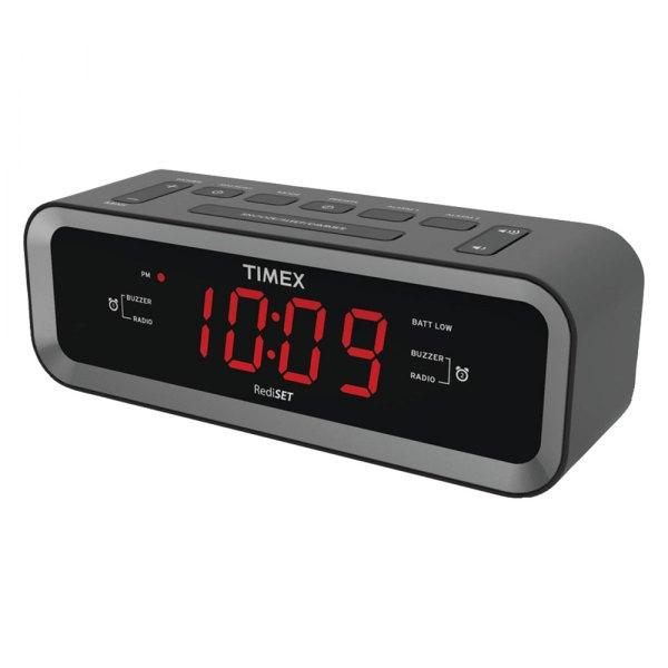 timex audio t236b dual alarm clock radio with usb port. Black Bedroom Furniture Sets. Home Design Ideas