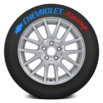 "Tire Stickers® - ""Chevrolet Racing"" Tire Lettering Kit"