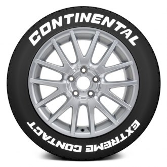 "Tire Stickers® - ""Continental Extreme Contact"" Tire Lettering Kit"