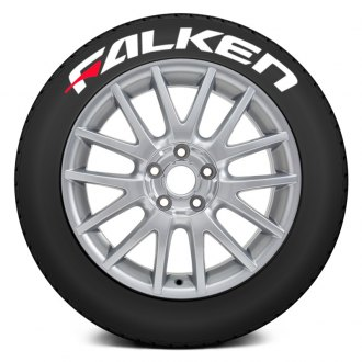 "Tire Stickers® - ""Falken"" Tire Lettering Kit with Red Dashes"