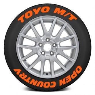 "Tire Stickers® - ""Toyo M/T Open Country"" Tire Lettering Kit"