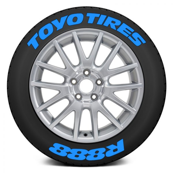 "Tire Stickers® - Blue ""Toyo Tires R888"" Tire Lettering Kit"