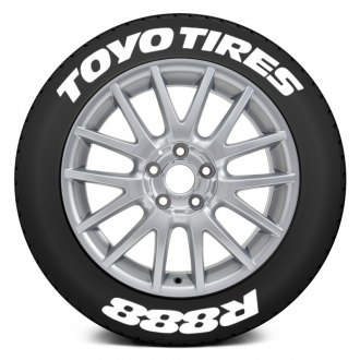 "Tire Stickers® - ""Toyo Tires R888"" Tire Lettering Kit"