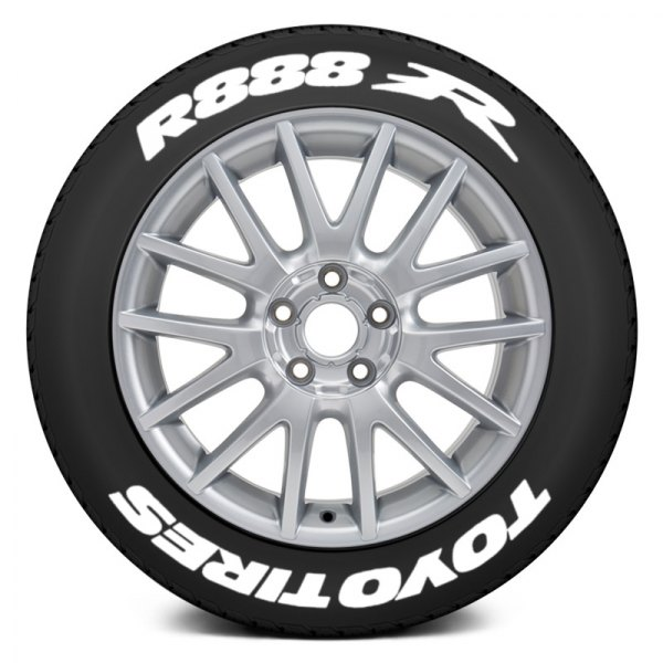 Toyo Tires White Letters >> Tire Stickers White Toyo Tires R888r Tire Lettering Kit