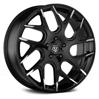TIS® - 542MBT Gloss Black with Mirror Machined Spoke Tips