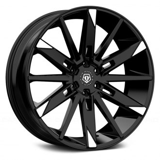 TIS® - 545MBT Gloss Black with Mirror Machined Spoke Tips