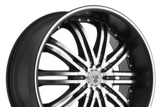 "TIS® - 532MB Black with Machined Face and Groove (24"" x 9.5"", +18 Offset, 5x127 Bolt Pattern, 83.82mm Hub)"