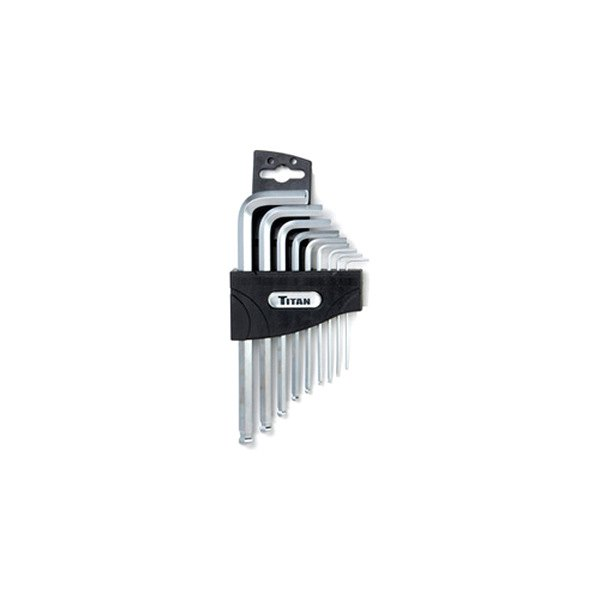 Titan® - 9-Piece Metric Ball End Hex Key Set with Detent Bit Holder