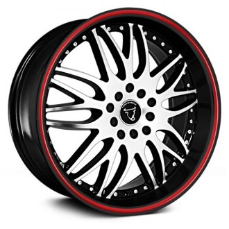 TOOROO® - TR1012 Black with Machined Face and Red Stripe