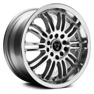 TOOROO® - TR9004 Silver with Machined Face and Lip