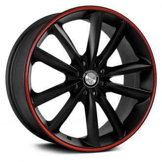 TOOROO® - TR9012 Matte Black with Red Stripe